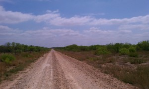 On the road somewhere in Zavala County.